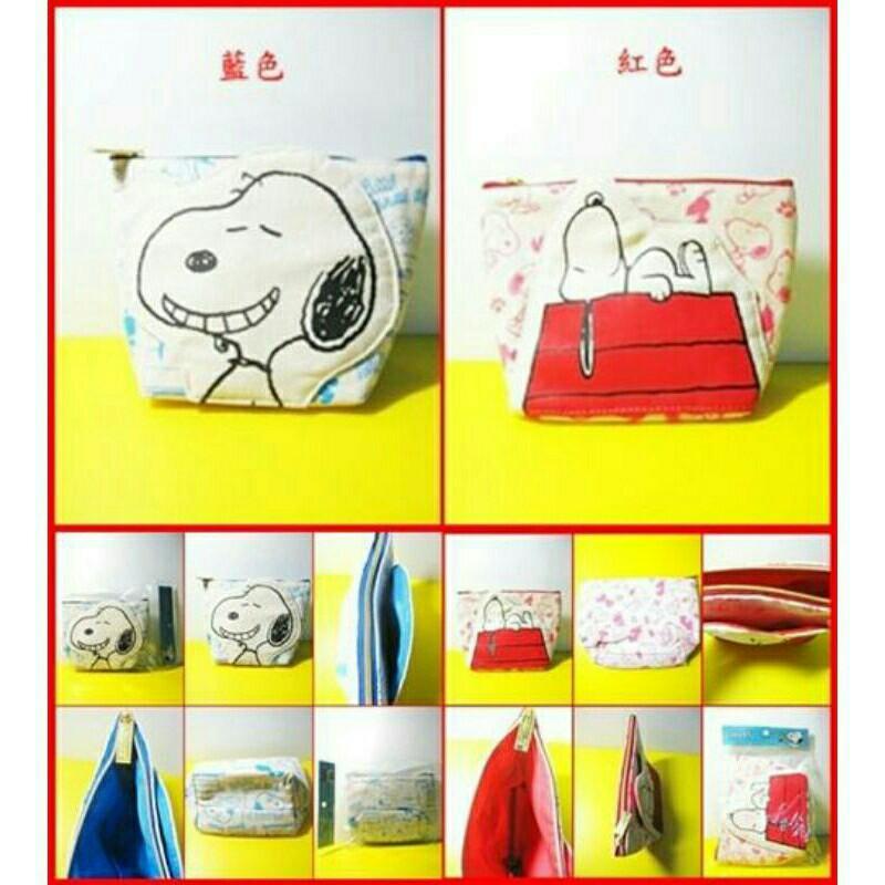 SNOOPY帆布造型筆袋  (單售) 二款選擇  藍色款 / 紅色款 運費65自付