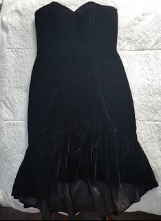 Vintage Black Velvet Cocktail Dress