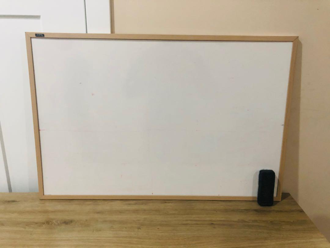White board and pin board with marks