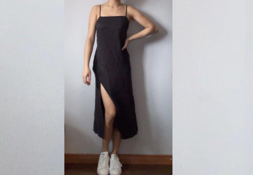 Zara slit slip dress