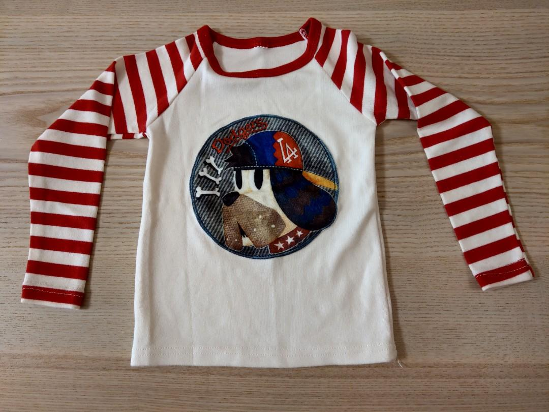 男童棉質長袖上衣(3件)