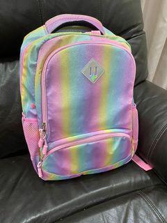 3 In 1 Rainbow Glitter school bag set
