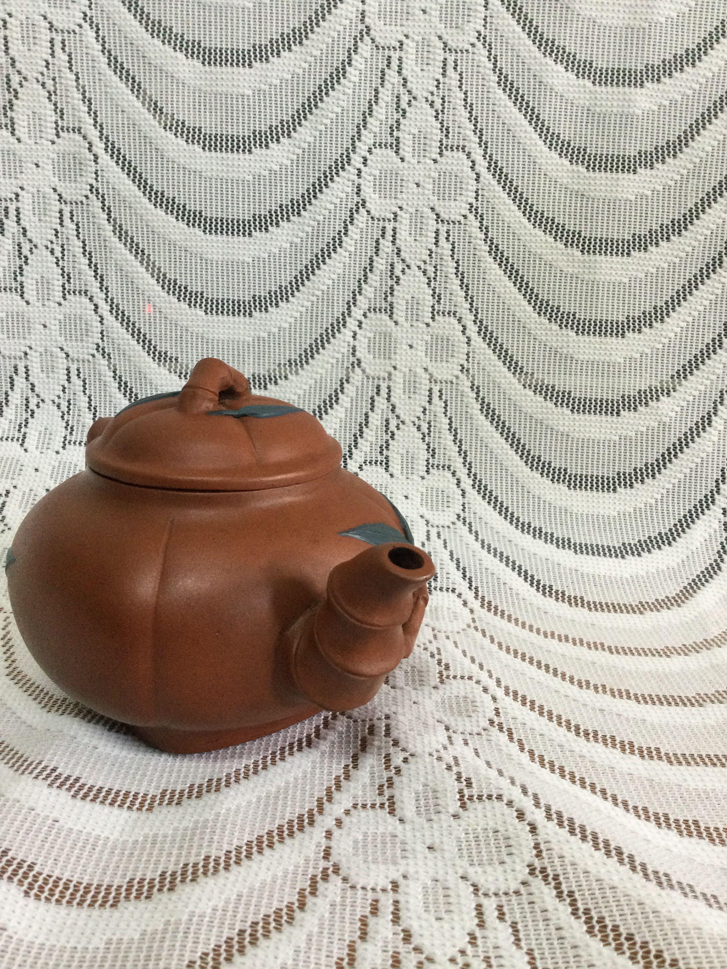 早期造型茶壺#開運紅