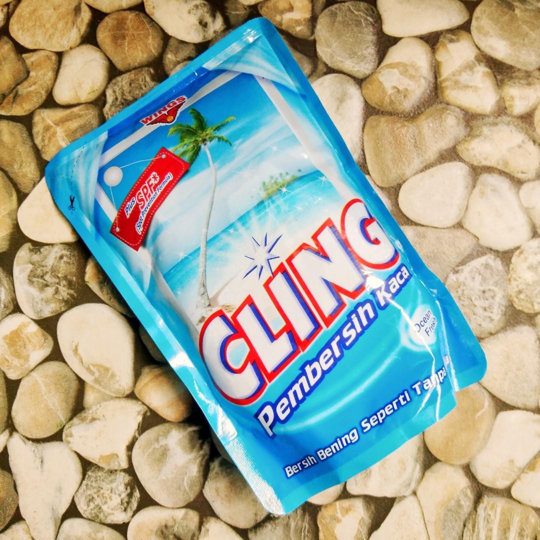 CLING Pembersih Kaca Ocean Fresh Plus SPF (Spot Prevention Formula) Refill 425ml