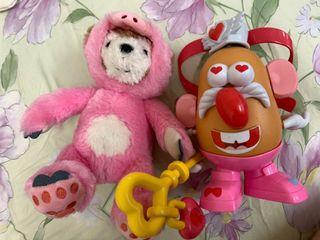 蛋頭先生/粉紅色豬duffy一起賣