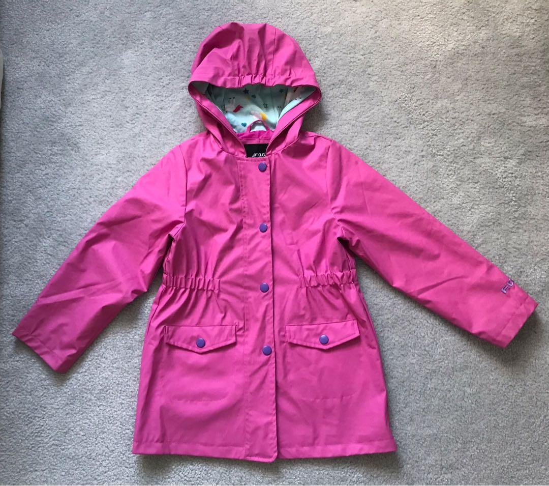 EUC London Fog girl rain coat / jacket (6X)