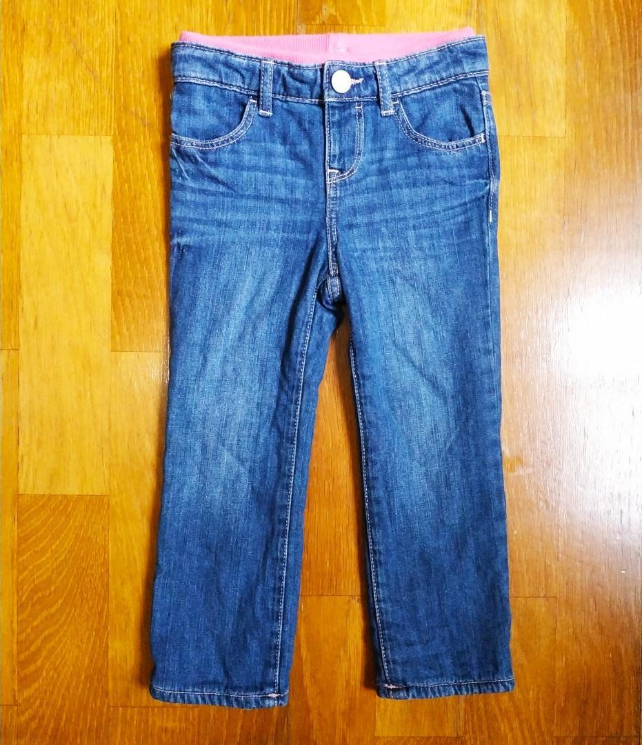 全新Gap女童厚刷毛彈性牛仔褲3y