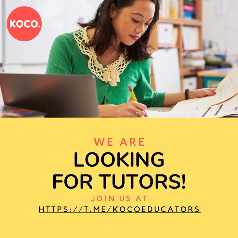 Part-Time Tutor for Primary & Secondary School Students
