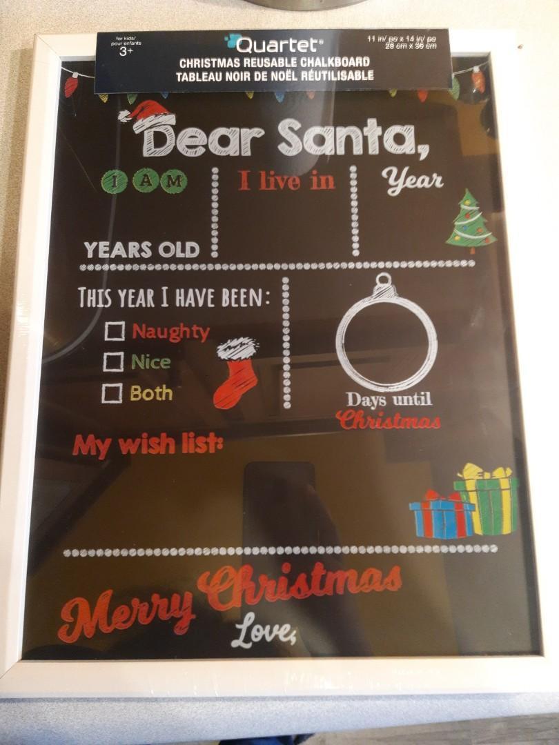 Quartet Christmas reusable chalkboard