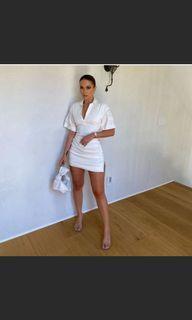 Tag** Zara Mini White bodycon Dress
