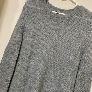 Uniqlo針織毛衣 前短後長針織毛衣 女薄上衣 S