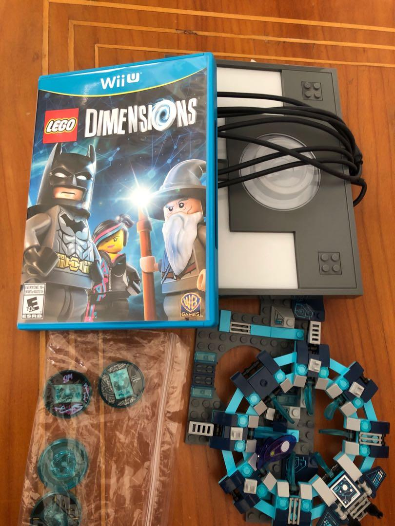 WiiU lego dimensions game, pad and starter tags