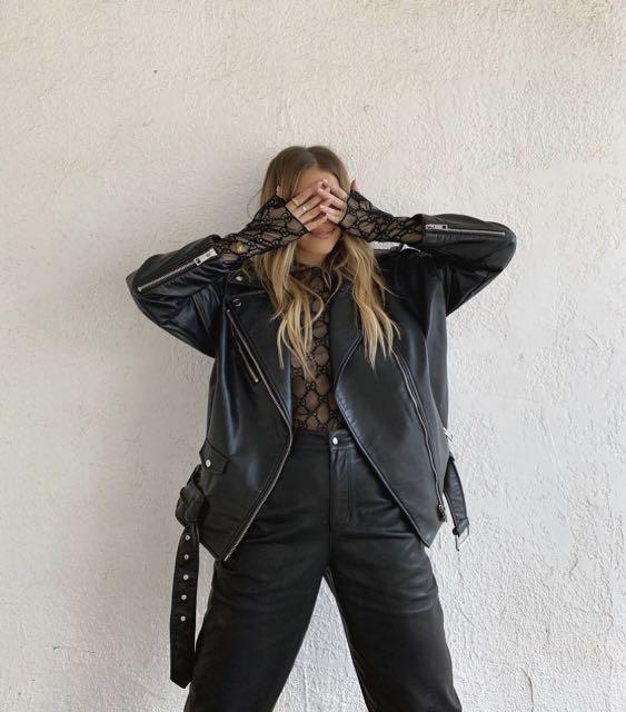 ZARA Faux Leather Oversize Jacket