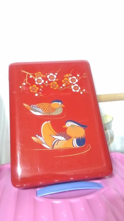 青山牌鴛鴦過年糖果方型盒子無包裝