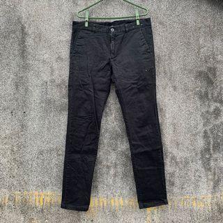 黑色棉質長褲 工作褲 34