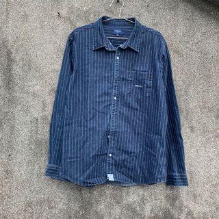 直條紋 牛仔布 襯衫