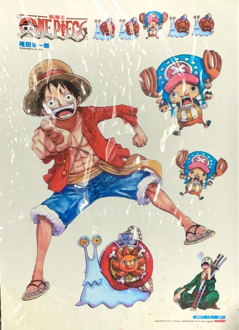 🇯🇵 正版 海賊王 尾田榮一郎 原畫 塑膠 貼紙