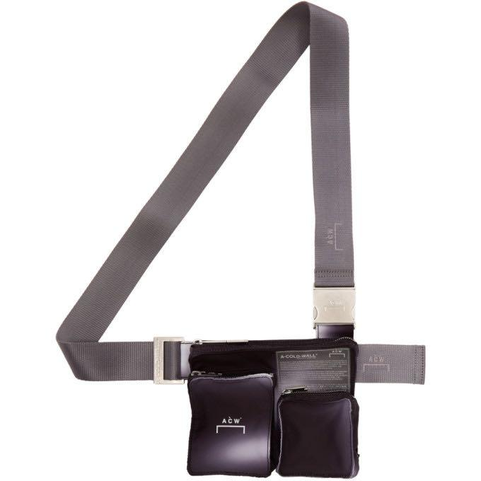 A-COLD-WALL* ssense exclusive black & grey utility holster bag