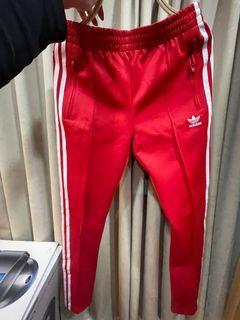 Adidas運動長褲 紅色套裝