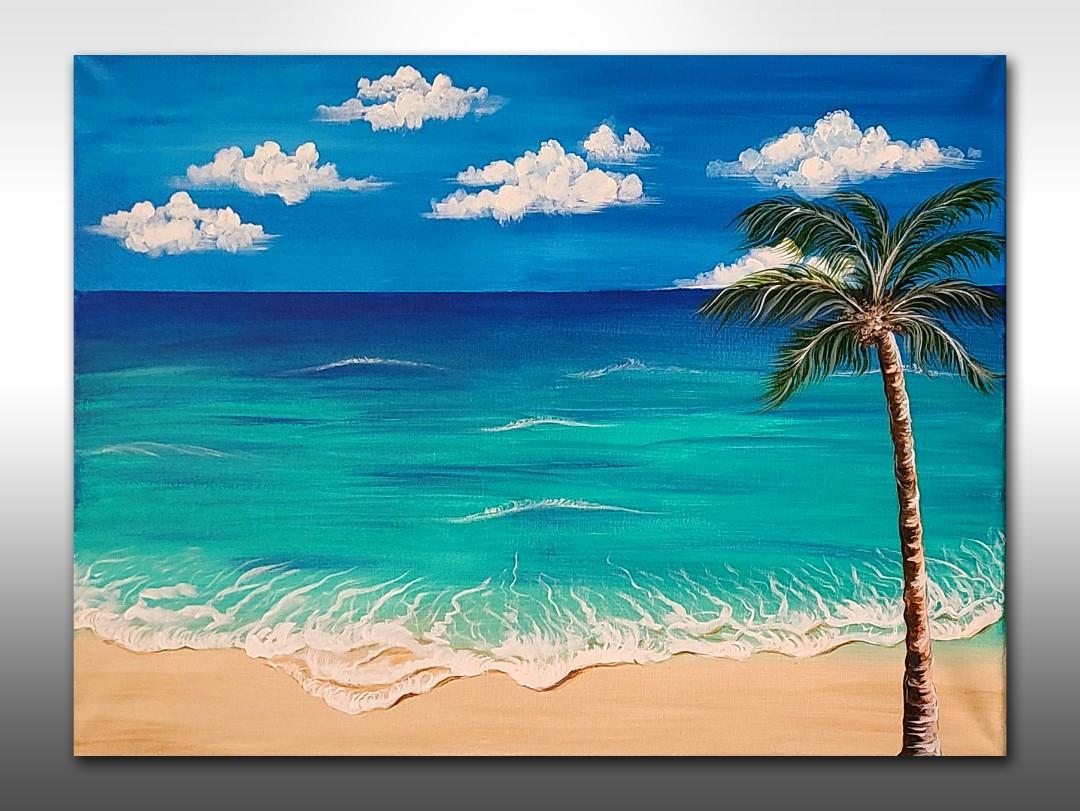 Beautiful Sea Beach Canvas Painting