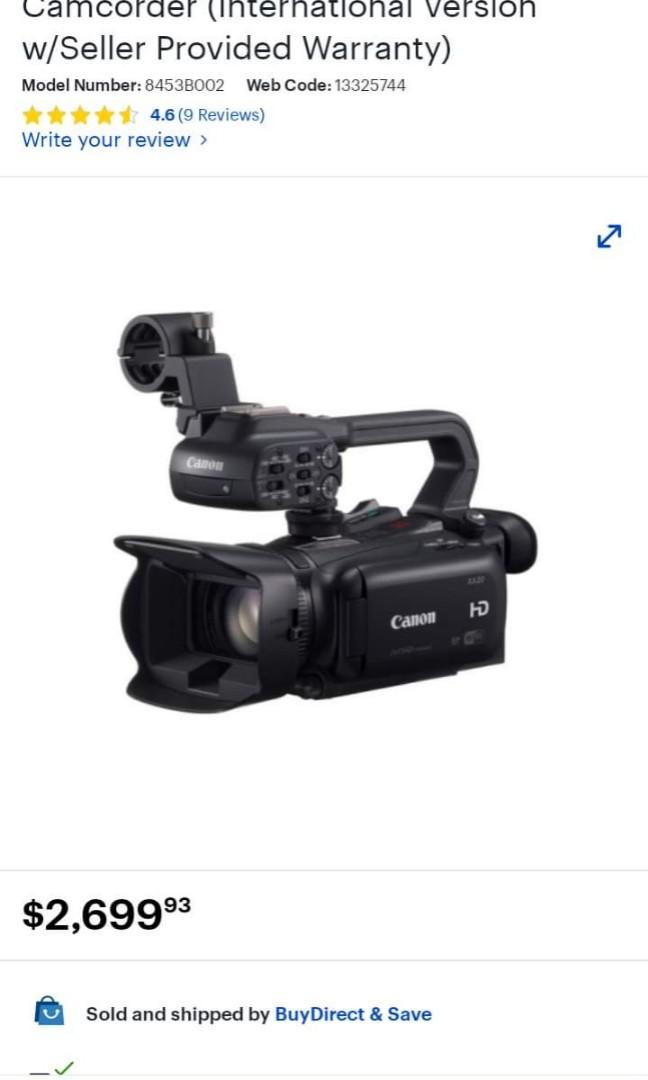 Canon XA20 digital video camera