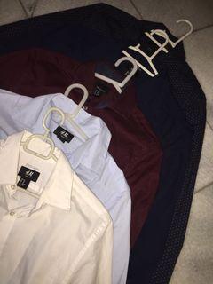 coloured men's dress shirts h&m