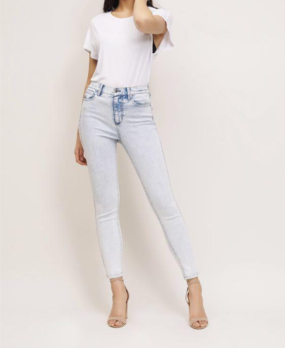 Dynamite Kate Light Acid Wash Skinny Jeans