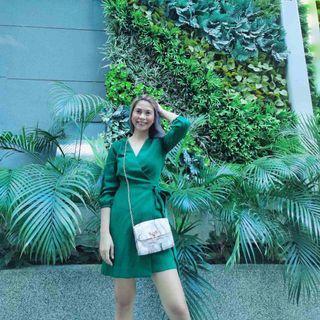 Emerald Green Dress - Free Shipping