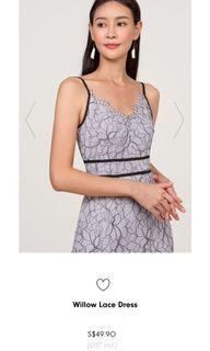 FAYTH Willow Lace Dress in Violet