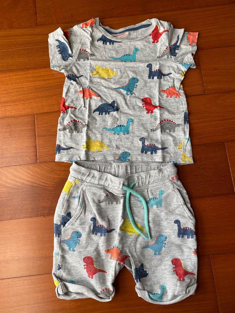 H&M 男童恐龍套裝 適用1歲-2歲