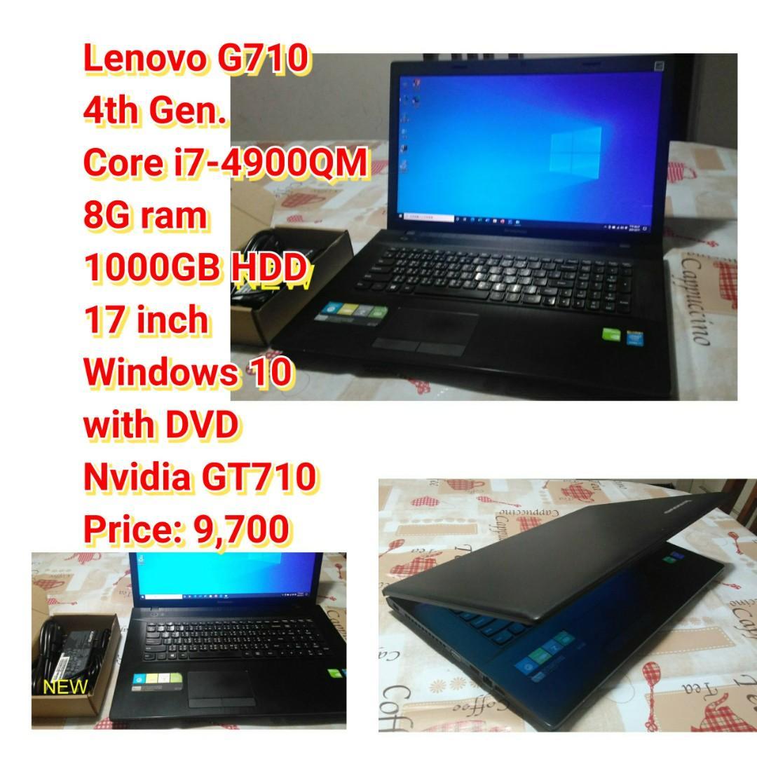 Lenovo G710 4th Gen. Core i7