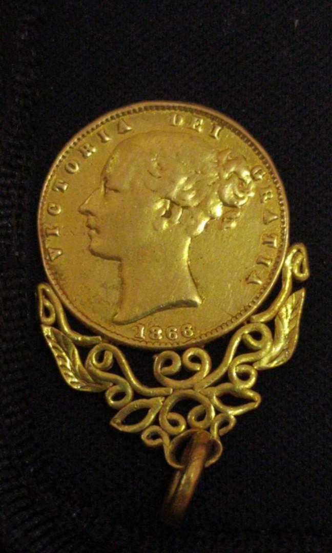 Koin elisabeth 1868 emas 24 karat