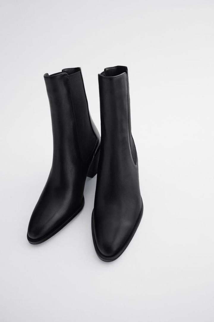 NWT Zara leather boots size 8