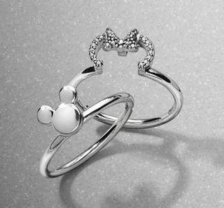 Pandora Mickey And Minnie Mouse Ring