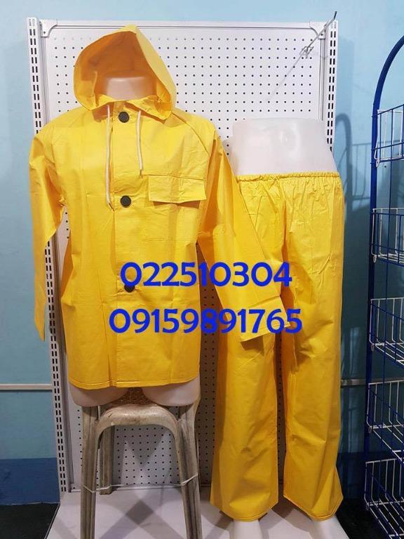 Raincoat pants and jacket PVC