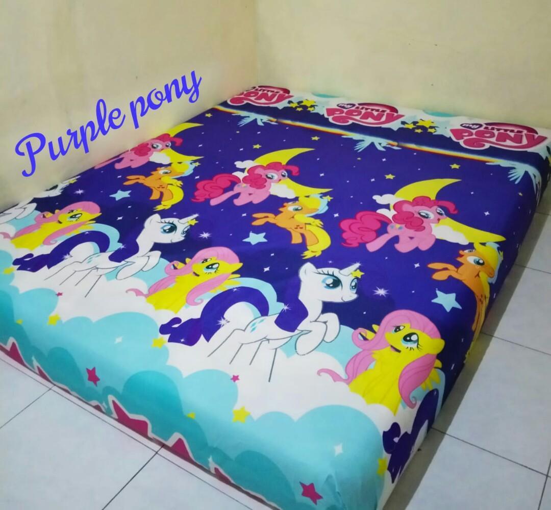 Sprei homemade motif purple pony
