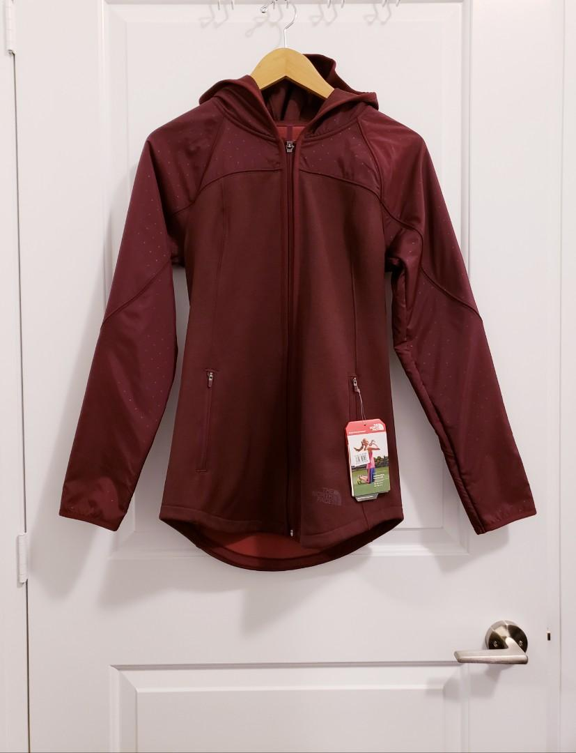The North Face Burgundy/Wine Red Jacket Sweater Hoodie (Size S)
