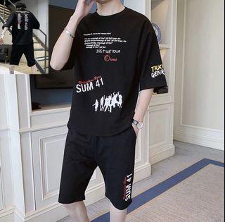 夏季短袖T恤+五分褲(XL號)outlet 商品
