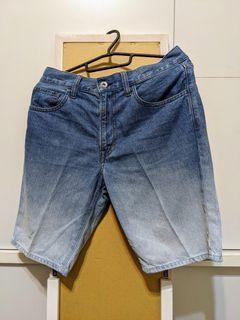 Uniqlo漸層牛仔短褲