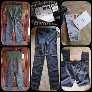 Uniqlo black& gray stretch pants (long)
