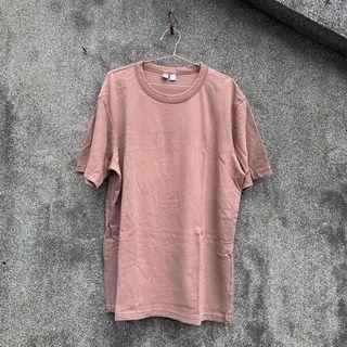 Uniqlo U系列 摩蘭迪色 灰粉色 短袖上衣 基本款 內搭