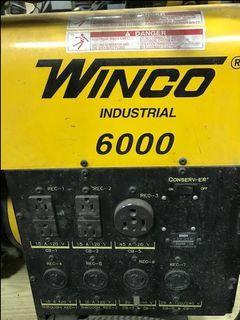 Winco 6000 generator
