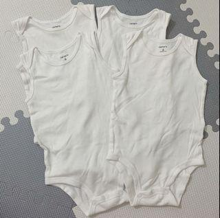 4 white Carter's Onesies for Babies  Baby girl or boy