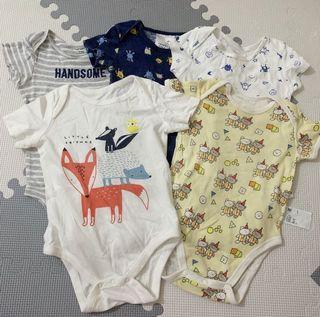 5 pcs Onesies for Baby Boy