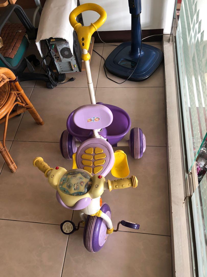 三輪兒童腳踏推車