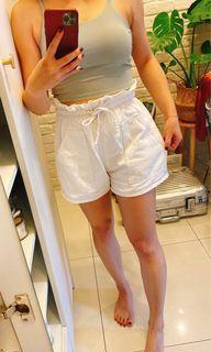 花苞短褲 白/淺藍  兩件一起隨便賣