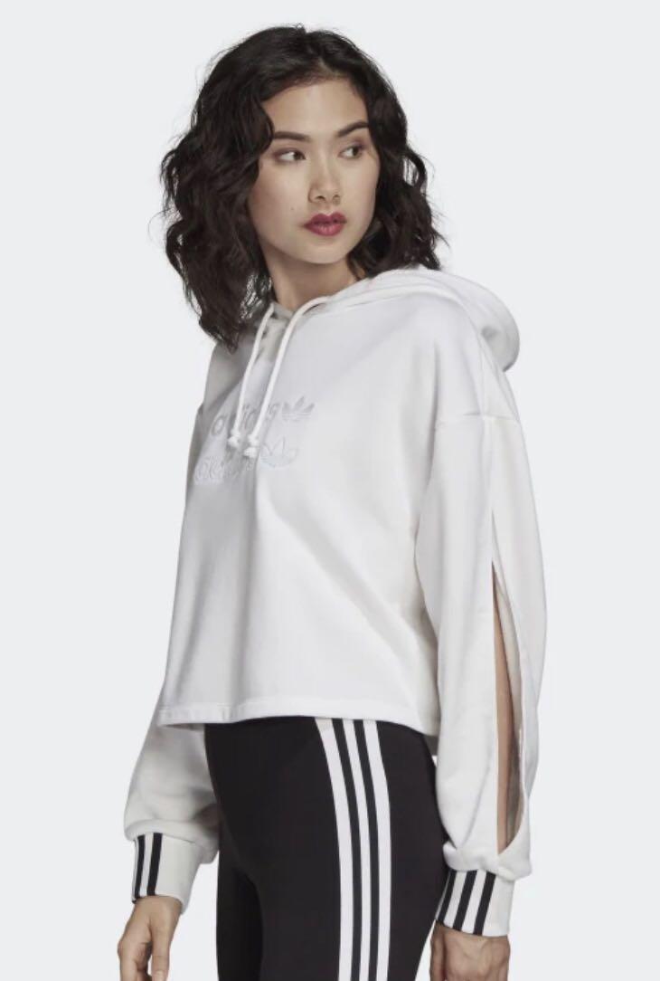 Adidas Cropped Hoodie - Open Sleeves