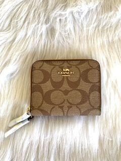 Authentic Coach double zip mini wallet