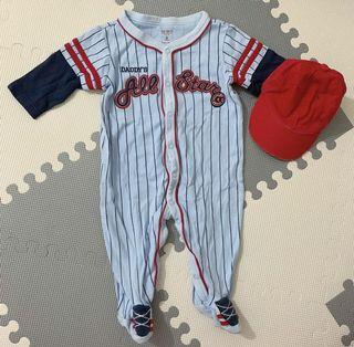 Baseball Frogsuit perfect for monthly pictorial for baby boy