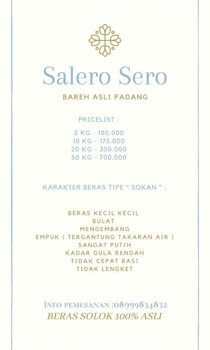 Beras Padang ( Solok )